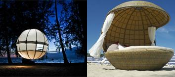 Nuevo concepto de mobiliario exterior Cocoon Tree